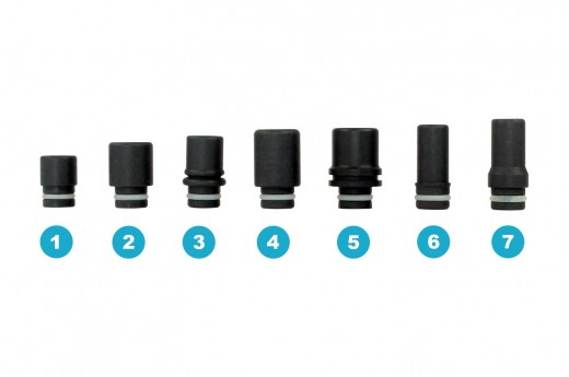 Drip Tip 510 Zwarte Teflon