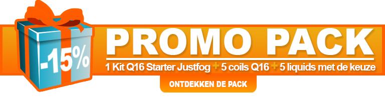 Promo pack Q16 Starter Kit Justfog