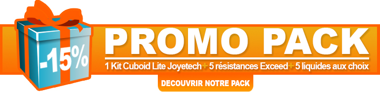 Pack promo Cuboid Lite de Joyetech