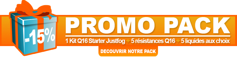 Pack Promo Q16 Starter Kit Justfog
