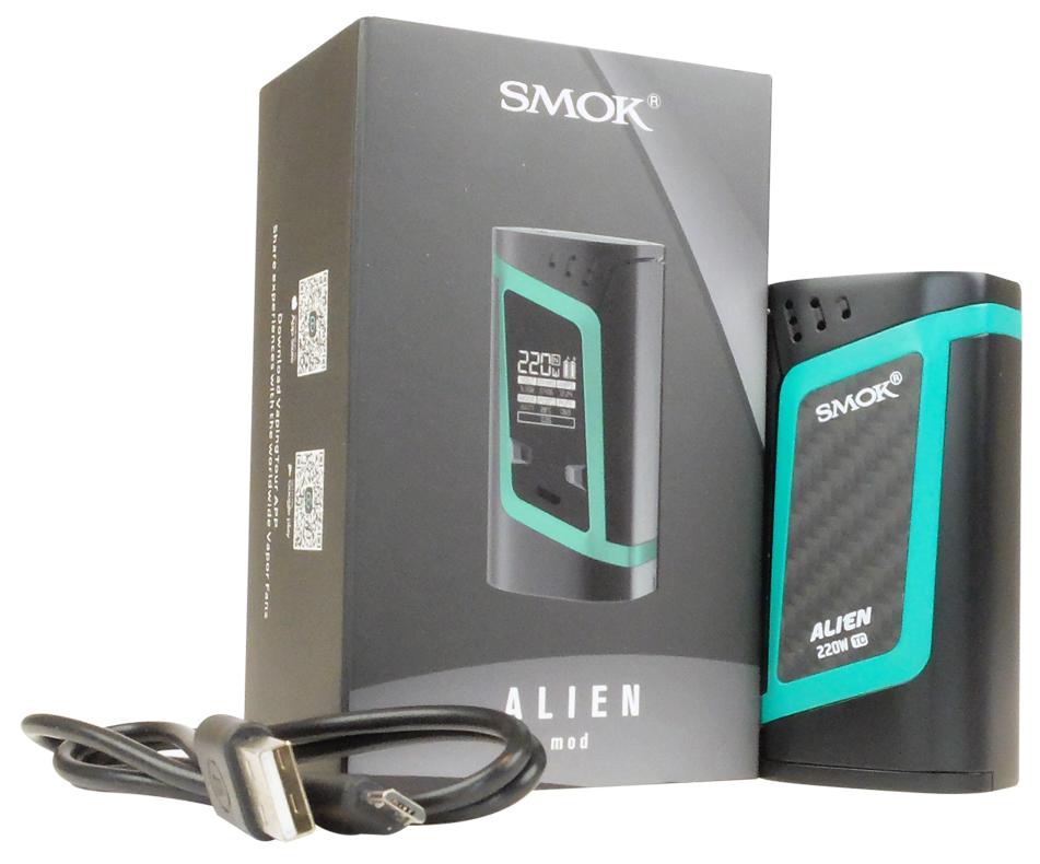 Boite avec Box Alien 220 W et câble USB