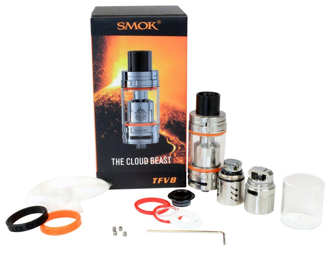 Inhoud van TFV8 Smok Clearomizer Kit
