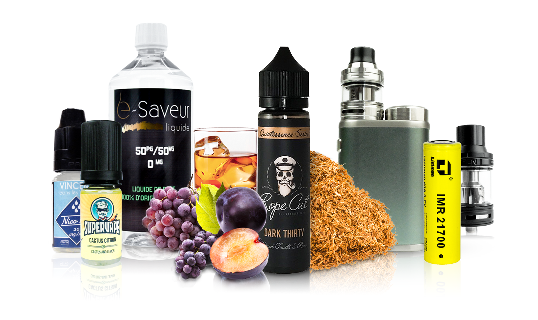 E-sigareten, accessoires, DIY, e-liquid