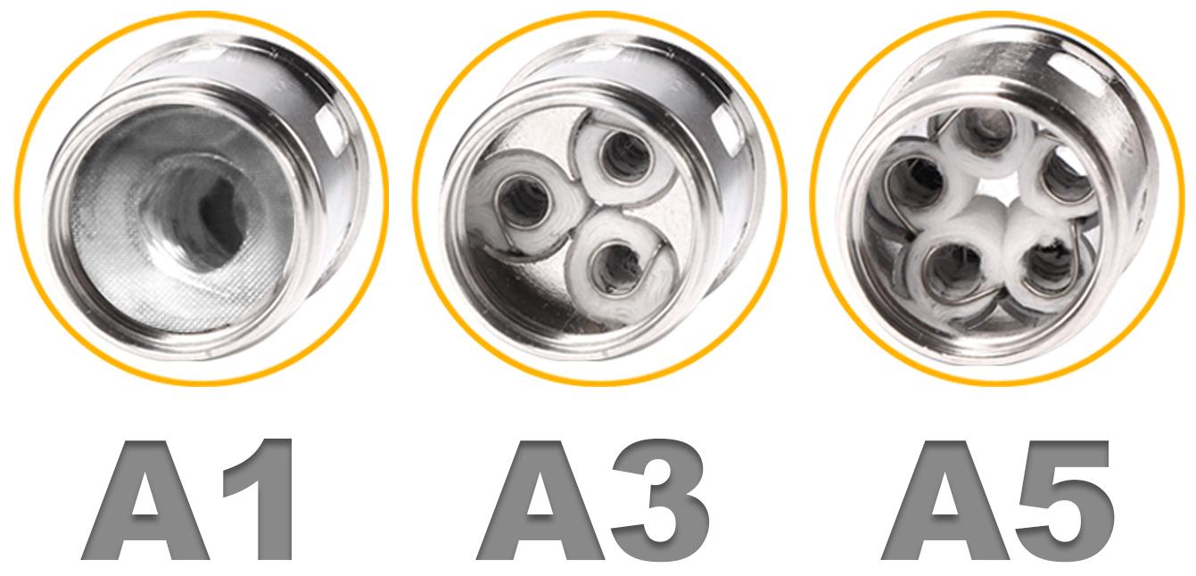Résistances A1, A3 et A5